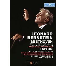 Leonard Bernstein Conducts Beethoven String Quartet No. 16 & Haydn Missa in Tempore Belli