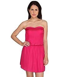 Idiotheory Women's Pink Sleeveless Dress( ITWCPBSDPK-01_XL )