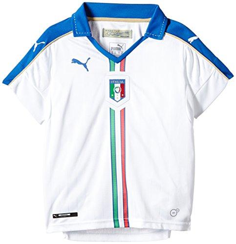 Puma FIGC Italia Kid Away Replica Maglietta da ragazzo, Bianco, 152 - L