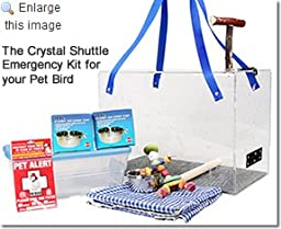 Crystal Shuttle Bird Carrier & Emergency Kit for Cockatiel and Finch size birds