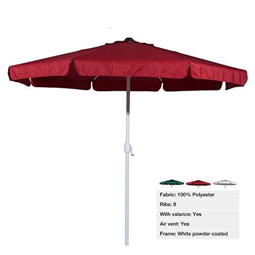 Get Cheap Abba Patio 3m Round Crank Garden Parasol Outdoor Umbrella
