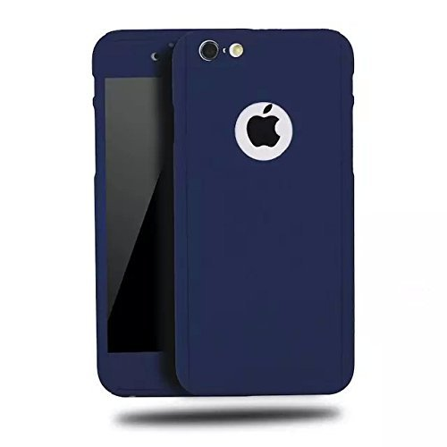 ACCWORLD Blue colour 360 degree full body protector case cover for Iphone 6/6s ( includes front & back cover & screen tempered glass )