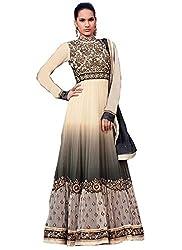 Prenea Exclusive Black Padding Georgette Anarkali Suit