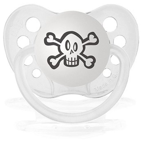 Personalized Pacifiers Skull Pacifier in Clear - 1