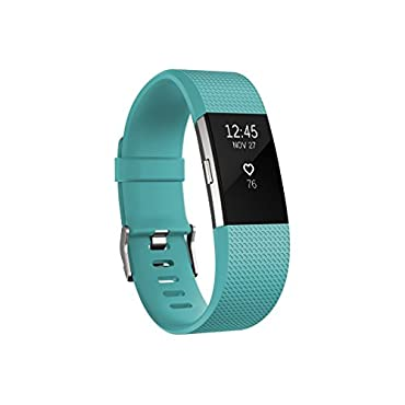 Fitbit Charge 2 Heart Rate + Fitness Wristband (Teal, Small)