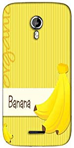 Snoogg bright organic banana card in vector format Designer Protective Back Case Cover For Micromax A117