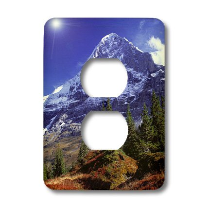 Lsp_82638_6 Danita Delimont - Mountains - Switzerland, Eiger, Berner Oberland, Mountain - Eu29 Rer0021 - Ric Ergenbright - Light Switch Covers - 2 Plug Outlet Cover