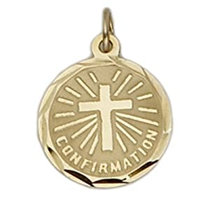 14K Gold Confirmation Medal Pendant 14K Gold Jewelry 14K Gold Communion-Four Way Patron Saint Medal Pendant Catholic