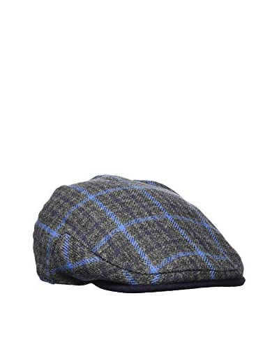 Hackett London Gorra Bal 12959 Flat Cap Gris / Azul