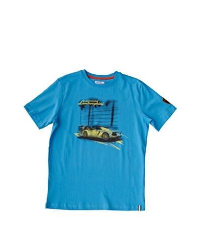 Lamborghini Camiseta Manga Corta Aventador Dynamic Azul
