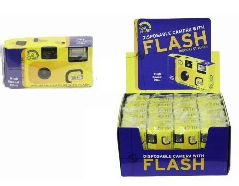 Single Use Disposable Camera 24 Exposures Built In Flash - Wedding Party Holiday