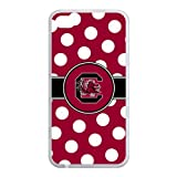 NCAA Polka Dots Design South Carolina Gamecocks Logo for iPhone4 or 4s Best Rubber Cover Case at Color Your Dream Mall at Amazon.com