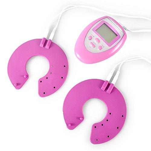 Lychee® Portable Electric Pulse Digital Breast Enhancer Natural Pink Vibrating Enlargement Massage Kit
