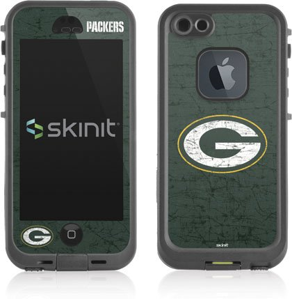 NFL® Green Bay Packers Distressed Vinyl Skin for Lifeproof for Apple iPhone 5 / 5S by Skinit