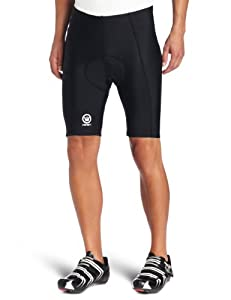 Canari Cyclewear Men's Velo Gel Padded Cycling Short (Black, Large)