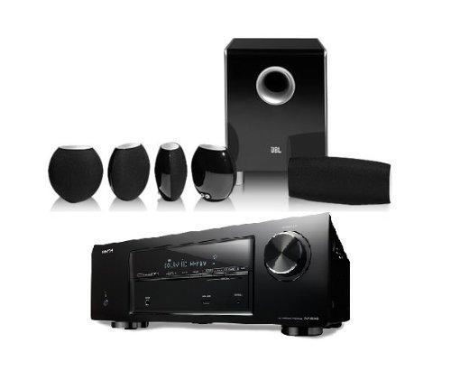 Denon Avr-E200 5.1 Channel Home Theater Bundle With Jbl Cs480 Speaker System (Black)