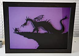 Maleficent and Prince Phillip Sleeping Beauty - hand cut paper art