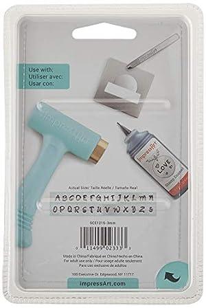 ImpressArt Uppercase Basic Bridgette Metal Letter Stamp Set, Steel Alphabet Punches for Metal Stamping (Color: Uppercase)