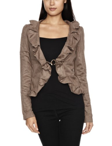Traffic People Sue Scallop Womens Shrug Chocolate X-Small