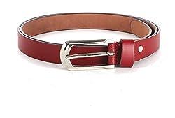 WildHorn Women's Leather Belt (WHRH177--42, Red, 42)