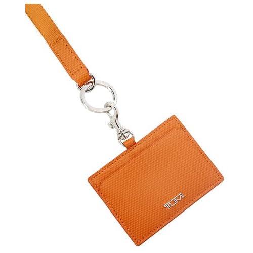 【トゥミ】Tumi Commuter Lanyard レザー・コミューター・ランヤード ID カード ケース 14425 Leather (Orange)
