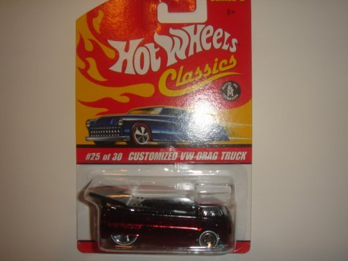 2006 Hot Wheels Classics Series 2 Customized VW Drag Truck Red/Black #25/30