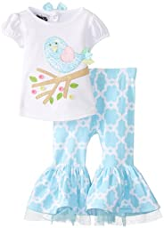 Mud Pie Baby-Girls Newborn Little Chick Top and Pants, Multi, 6-9 Months