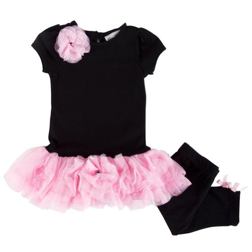 Rare Editions Girl's Legging Set  Attached Tutu