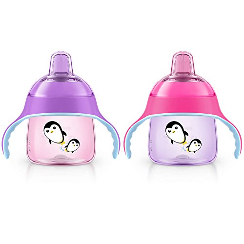 Philips Avent My Penguin Sippy Cup, 7oz (Pink/Purple)