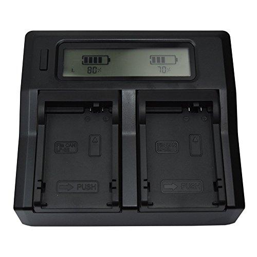 Mondpalast @ USB Doppio Caricabatteria per Canon Batteria Ricaricabile Li-ion LP-E8 LPE8 LP E8 lp-e8