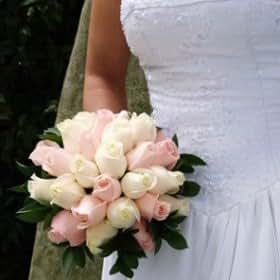 Wedding Flowers Bridal Bouquet Light Pink Ivory Roses