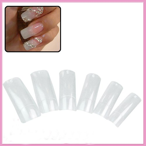 500 Pcs Crystal Clear Half False Nail Art Painting Nail Tips