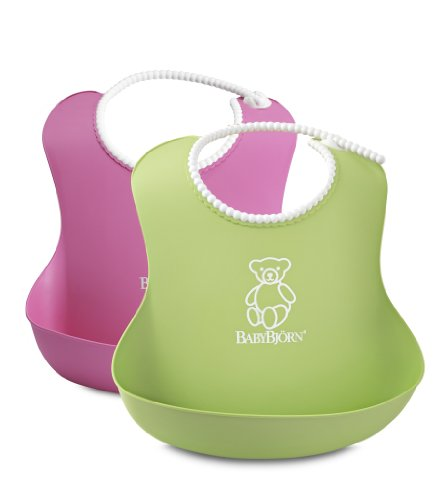 babybjorn-046201-bavaglino-morbido-2-pezzi-rosa-verde