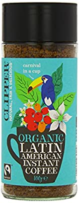 Clipper Latin American Organic Instant Coffee 100 g (Pack of 6)