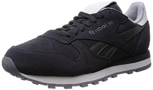 Reebok Cl Leather Suede V62959, Grigio (Grey (Gravel/Darkest Olive/White/Black/Shark)), 43