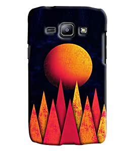 Blue Throat Sun In Mountains Printed Designer Back Cover For Samsung Galaxy J1 Ace