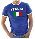 Coole-Fun-T-Shirts Men's T-Shirt Italia blue royalblau Size:S