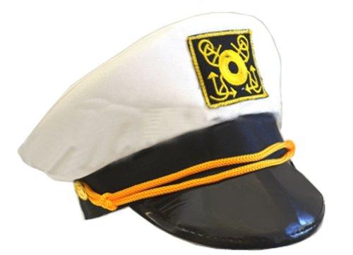 Cotton Yacht Cap-White (adjustable/58cm) - 1