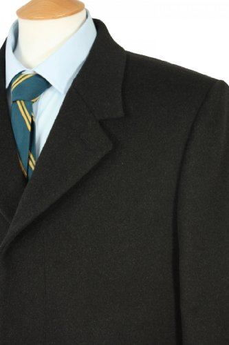 Mens Classic 3/4 length Overcoat 48inch Chest, Charcoal09