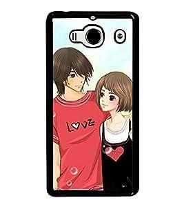 Love Couple 2D Hard Polycarbonate Designer Back Case Cover for Xiaomi Redmi 2S :: Xiaomi Redmi 2 Prime :: Xiaomi Redmi 2
