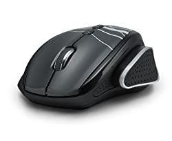 aLLreLi M535 Optical Wireless Mouse - 7 Programmable Buttons, Thumb Adjust Button, Cursor Positioning Patent Technology, Intelligent Power, 16 Channel Intelligent Frequency, 2.4G Nano USB Wireless Receiver, Ergonomic Design for Gaming, Working