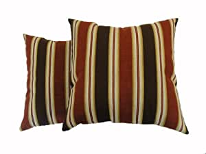 Amazon.com: Newport Layton Home Fashions 2-Pack KE20 Indoor/Outdoor Pillows, Park Avenue, Spice ...