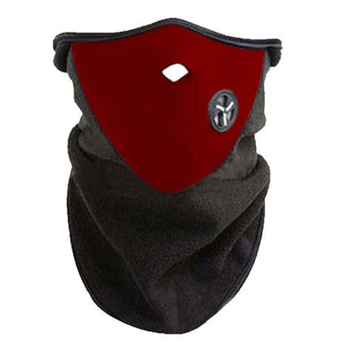 Ski Snowboard Moto Bike Pesca a prueba de viento Neck Face Mask Warmer Manga Red