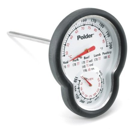 Polder 12453 Stainless Steel Dual Oven Thermometer back-627629