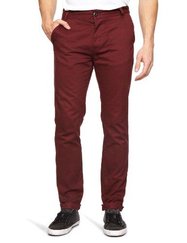 Bellfield MTRS-11214W Slim Men's Trousers Wine W32 INxL32 IN