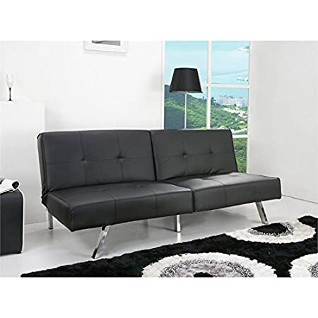 Gold Sparrow Jacksonville Black Foldable Futon Sofa Bed