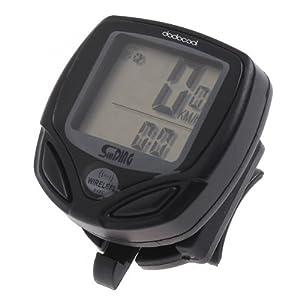iColourful LCD Wireless Bicycle Computer Bike Meter Speedometer Cycle Speedo Odometer Black