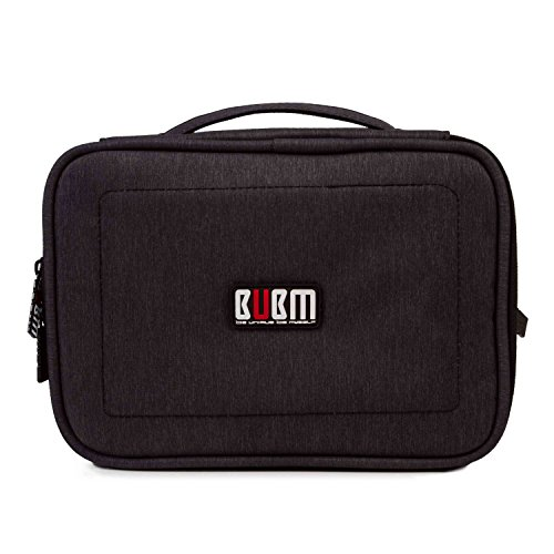 Universal Electronics Accessories Packing Organiser Tablet Case Sleeves Cable Pouch USB Drive Shuttle Carry Case(L, Black) (Electronic Cable Sleeve compare prices)