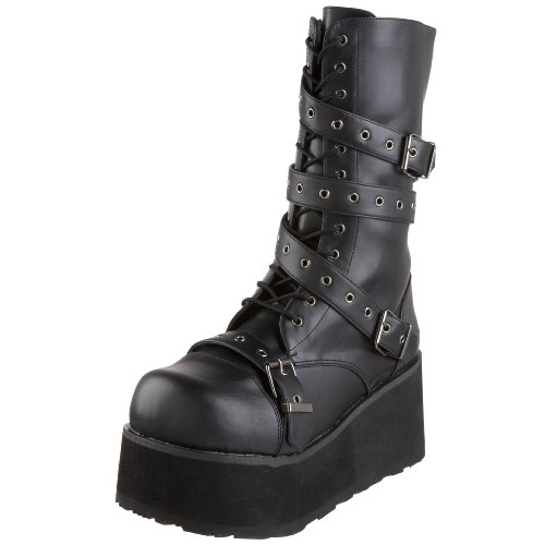 Demonia - TRASHVILLE-205, Stivali uomo, color Nero (Blk Vegan Leather), talla 38