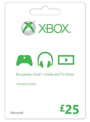 Microsoft Gift Card 25 GBP  Xbox One/360 Online Code (XBOX 360)